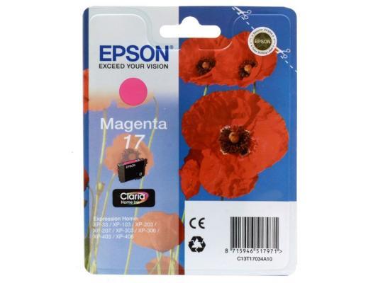 Картридж Epson Original T17034A10 (пурпурный) Expression Home XP строительный уровень truper np 18 17034