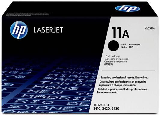 Тонер-картридж HP Q6511A (LJ2400) hp hp 650a черный картридж лазерный стандартная черный