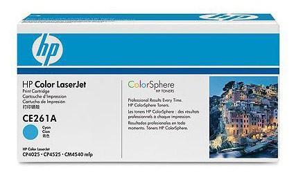 Тонер-картридж HP CE261A Голубой CLJ CP4025/CP4525