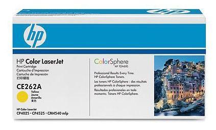 Тонер-картридж HP CE262A Желтый CLJ CP4025/CP4525