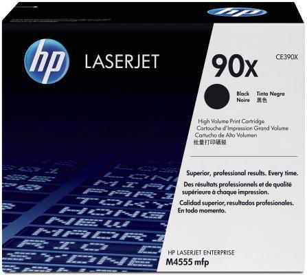 Тонер-картридж HP CE390X (№90X) CLJ M4555, LJ M601, M602, M603 повышенной емкости картридж mytoner mt ce390x black для hp lj m4555