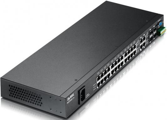 Коммутатор Zyxel MES-3500-24 коммутатор zyxel xgs2210 28 управляемый 24 порта