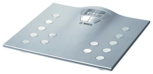 Весы напольные Bosch PPW2250 серебристый