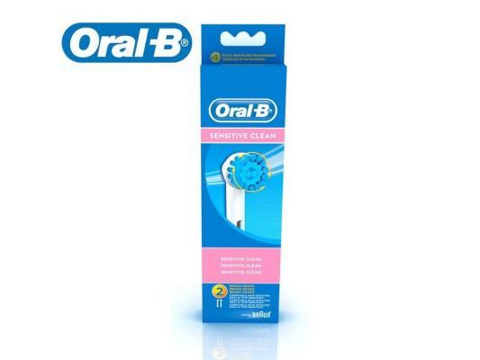 Насадка для зубной щётки Braun Oral-B Sensetive EBS17 в упаковке 2 шт аксессуар braun насадка для зубных щеток oral b trizone 2 шт eb 30 2