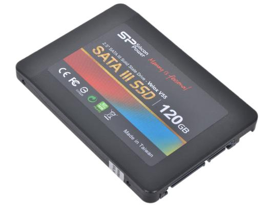 "Твердотельный накопитель SSD 2.5"" 120 Gb Silicon Power SP120GBSS3V55S25 Read 550Mb/s Write 420Mb/s TLC"