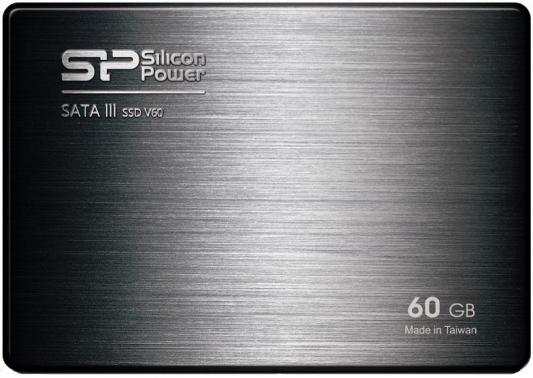 "2.5"" Твердотельный накопитель SSD 60Gb Silicon Power V60 (SP060GBSS3V60S25) SATAIII"