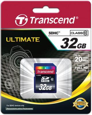 Карта памяти SDHC 32Gb Transcend Class10 (TS32GSDHC10)  цены