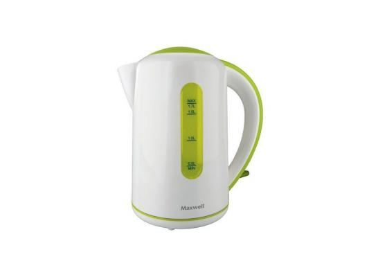 Чайник Maxwell MW-1028(G) 2200 Вт зелёный белый 1.7 л пластик