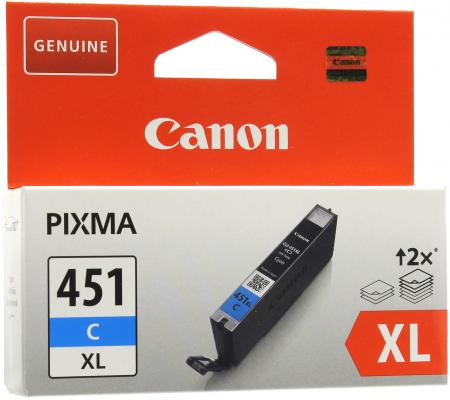 Картридж Canon CLI-451C XL голубой MG6340, MG5440, IP7240  695 страниц. картридж canon cli 451m xl пурпурный mg6340 mg5440 ip7240 695 страниц