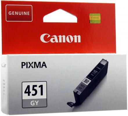 Струйный картридж Canon CLI-451GY XL серый для iP7240/MG5440/MG6340 повышенной емкости картридж canon cli 451gy 6527b001 серый