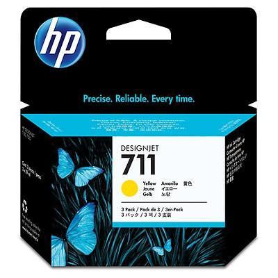 Картридж HP CZ136A (№711) желтый, 3*29мл (Экономичная упаковка) [супермаркет] джингдонг мелия 30cm 30m экономичная упаковка пластиковая упаковка hc050952
