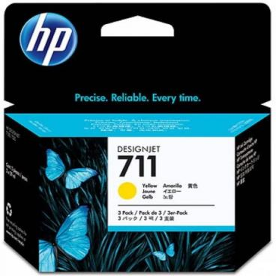Картридж HP CZ136A (№711) желтый, 3*29мл (Экономичная упаковка) набор картриджей hp designjet 711 желтый yellow 3x29 мл cz136a