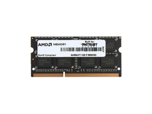 Оперативная память SO-DIMM DDR3 AMD 8Gb (pc-12800) 1600MHz (AE38G1601S2-UO) oem память ddr3 dell 370 abgj 8gb rdimm reg 1866mhz