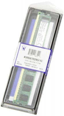 Оперативная память DIMM DDR2 Kingston 1Gb (pc2-5300) 667MHz (KVR667D2N5/1G)