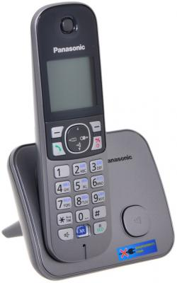 Радиотелефон DECT Panasonic KX-TG6811RUM серебристый радиотелефон dect panasonic kx tg6811rum серебристый