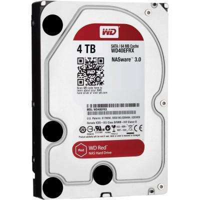 3.5'' Жесткий диск 4Tb Western Digital Caviar Red (WD40EFRX) SATA III <5400rpm, 64Mb> western digital wd синяя пластина 64 настольный привод 4тб sata6gb с wd40ezrz