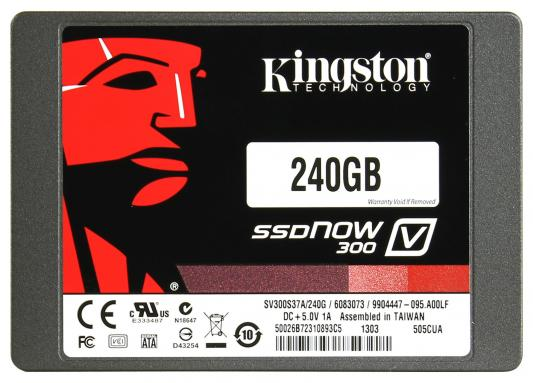 "2.5"" Твердотельный накопитель SSD 240 Gb Kingston  (SV300S3N7A/240G) SATA 3 V300 Series"