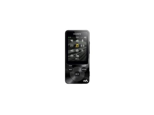 MP3-плеер Sony NWZ-E584/B 8GB, FM-радио, шумоподавление, + наушники EX, черный