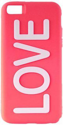 Чехол (клип-кейс) PURO Night Glow Love Cover для iPhone 5C розовый IPCCLOVEPNK