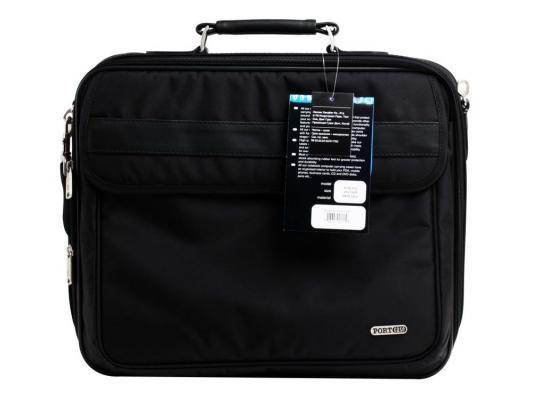"""Сумка для ноутбука 15.6"""" PortCase KCB-X02 Black кожа"""