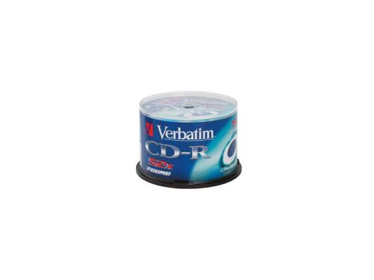 Диски CD-R Verbatim 700Mb 52x CakeBox 100шт (43411) диски cd r 700mb 52x jewel 10шт printable verbatim 43325 4
