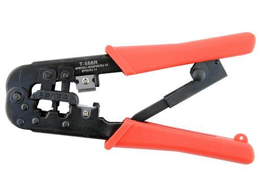 лучшая цена Инструмент Gembird T-568R обжимной универсальный с фиксатором для витой пары и телефонного кабеля