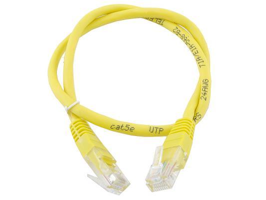 Патч-корд 5E категории UTP 0.5м желтый