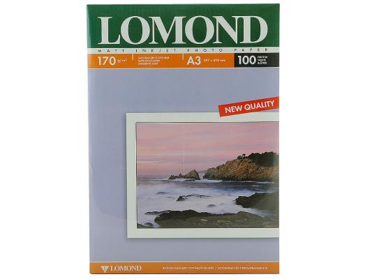 Фотобумага Lomond A3 170г/кв.м матовая двухсторонняя 100л 0102012 фотобумага lomond a3 1106302 1106302