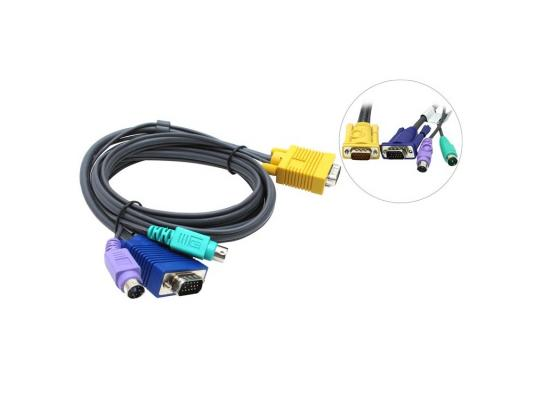 Кабель ATEN 2L-5202P 1.8 m cable PS/2 to SPHD DB15