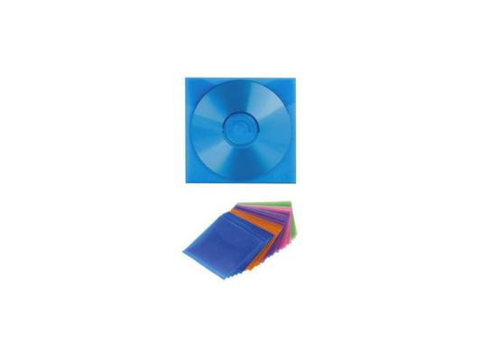 Конверты Hama H-51066 для CD пластиковые разноцветные 25шт конверты hama для cd dvd бумажные с прозрачным окошком белый 25шт h 51060