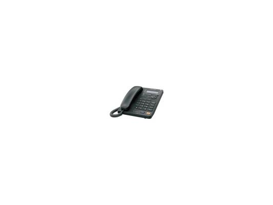 Телефон Panasonic KX-TS2570RUB чёрный, АОН, автоответчик, спикерфон проводной телефон panasonic kx ts2363 белый kx ts2363ruw