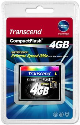 Карта памяти Compact Flash Card 4GB Transcend 300x TS4GCF300