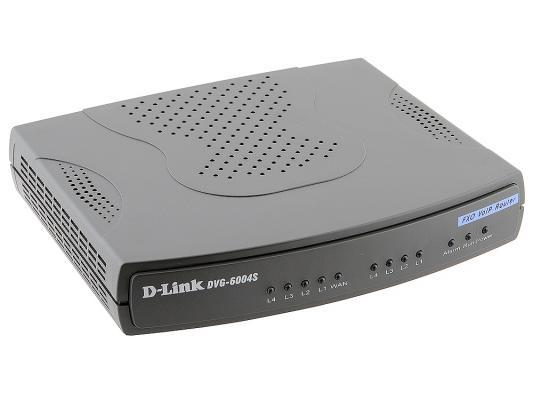 Шлюз VoIP D-Link DVG-6004S 4xFXO RJ-11 4xLAN 1xWAN 10/100Mbps SIP
