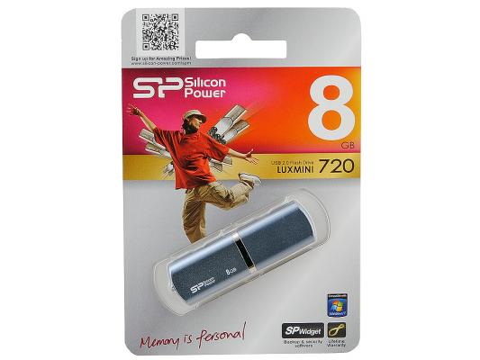Флешка USB 8Gb Silicon Power lux mini series 720 SP008GBUF2720V1B синий