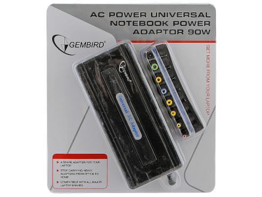 Блок питания для ноутбука Gembird NPA-AC1/NPA-AC1-GS 220В 90Вт сила тока 4.5А