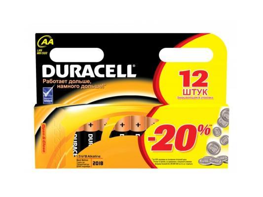 Батарейки Duracell Basic AA 12 шт батарейки duracell basic 12 шт aa lr6 12bl