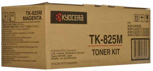 Картридж Kyocera TK-825M для KMC2520 C3225 C3232 пурпурный 7000стр new original kyocera 2gr17120 lamp scanner for km 4050 5050 c3225 c3232