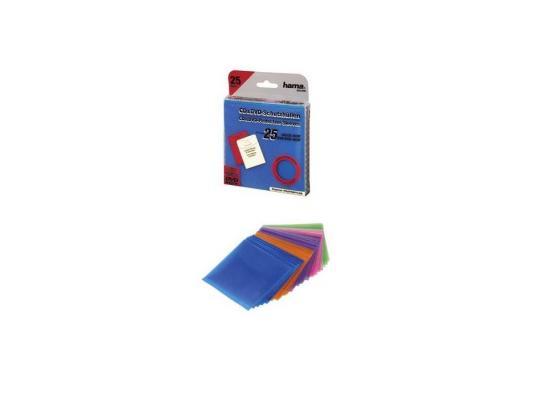 Конверты Hama для CD пластиковые цветные 25шт H-33800