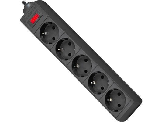 Сетевой фильтр DEFENDER ES 5.0 черный 5 розеток 5 м 99486  ES 5.0