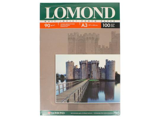 Бумага Lomond A3 90г/кв.м односторонняя матовая 100л 0102011