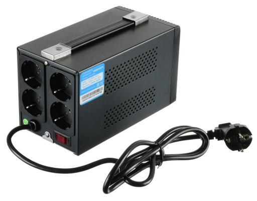 Стабилизатор напряжения Ippon AVR-1000 черный 4 розетки 1 м стабилизатор ippon avr 1000