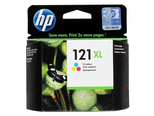 Струйный картридж HP CC644HE №121XL цветной для F4283/D2563 hp cn053ae 932xl black струйный картридж