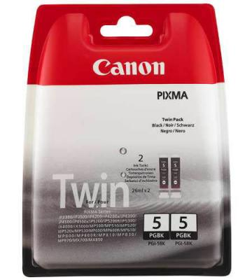 Струйный картридж Canon PGI-5BK черный Twin Pack для Pixma MP800/MP500/iP5200/iP5200R/iP4200 двойная упаковка картридж cli 8m пурпурный pixma mp800 mp500 ip6600d ip5200 ip5200r ip4200
