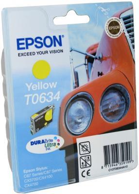 Картридж Epson C13T06344A10 для Stylus C67 C87 CX3700 CX4100 CX4700 Yellow Желтый t0631 t0634 refillable ink cartridge for epson stylus c67 c87 cx3700 cx4100 cx4700 printers