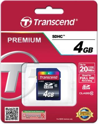 Карта памяти SDHC 4GB Transcend Class 10 (TS4GSDHC10)