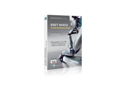 Антивирус ESET NOD32 SMALL Business Pack на 5 пользователей NOD32SBP-NS-BOX-1-5