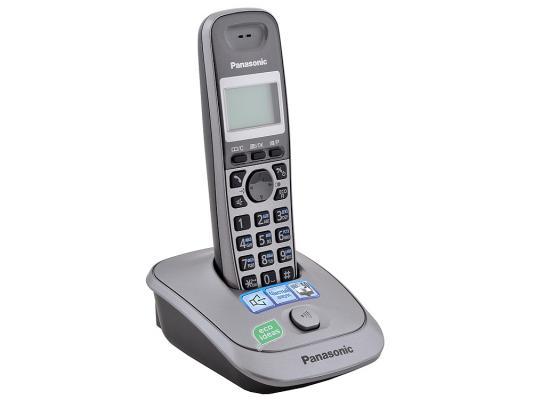Телефон DECT Panasonic KX-TG2511RUM серый panasonic kx tpa65 black dect телефон