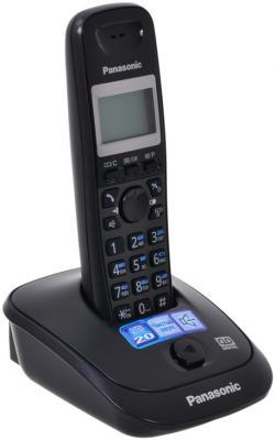 Радиотелефон DECT Panasonic KX-TG2521RUT темно-серый металлик радиотелефон dect panasonic kx tgf310rum серый металлик