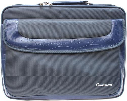 """Сумка для ноутбука 15"""" Continent CC-05 Navy нейлон синяя цена и фото"""