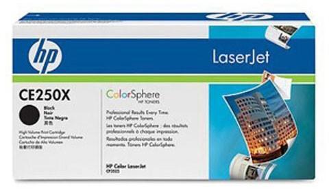 Картридж HP CE250X черный для Color LaserJet CM3530 CP3525 10500стр картридж hp ce250x cp3525 cm3530